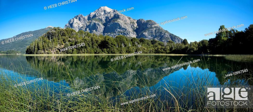Stock Photo: South America, Argentina, Patagonia, Rio Negro, Bariloche, Nahuel Huapi, National Park, Lake District.