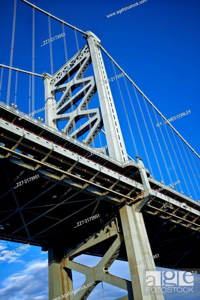 Imagen: Supporting structure of the Benjamin Franklin Bridge.