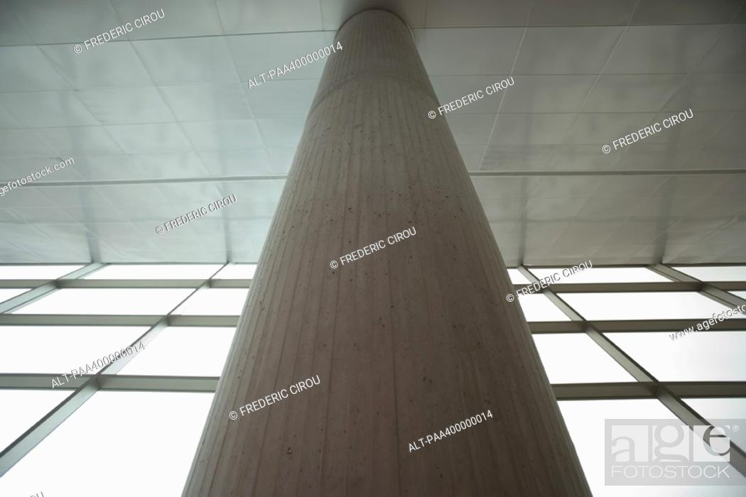 Stock Photo: Architectural view of column and windows.
