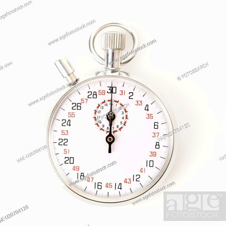 Stock Photo: Stopwatch on white.