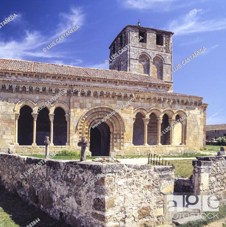 Stock Photo: Romanesque Church of San Miguel de Sotosalbos. Segovia. Spain.