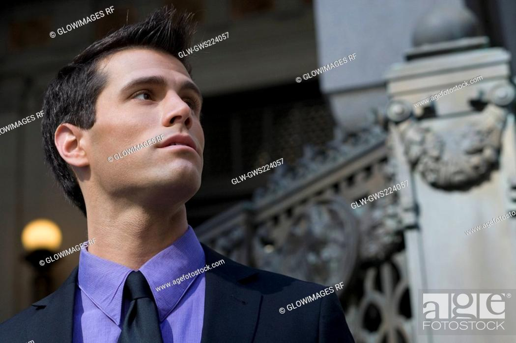 Stock Photo: Close-up of a businessman.