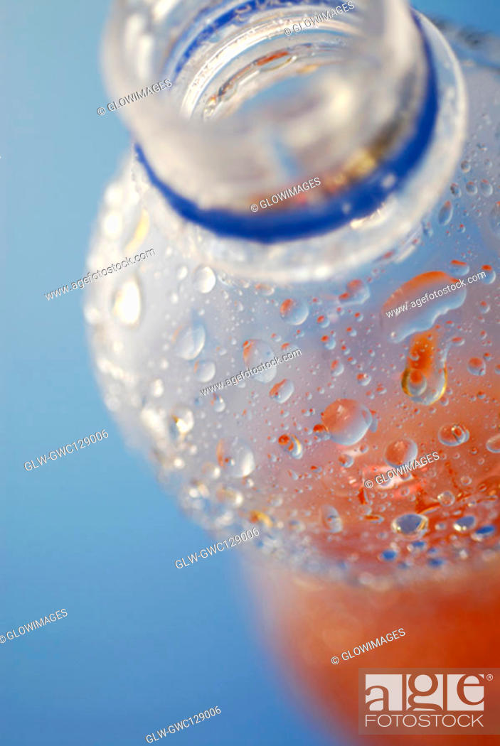 Stock Photo: Close-up of a bottle of juice.