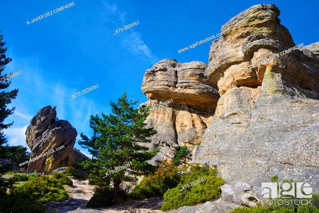 Stock Photo: Castroviejo. Duruelo de la Sierra. Sierra de Urbion Natural Space. Soria Province. Castilla y Leon. Spain.