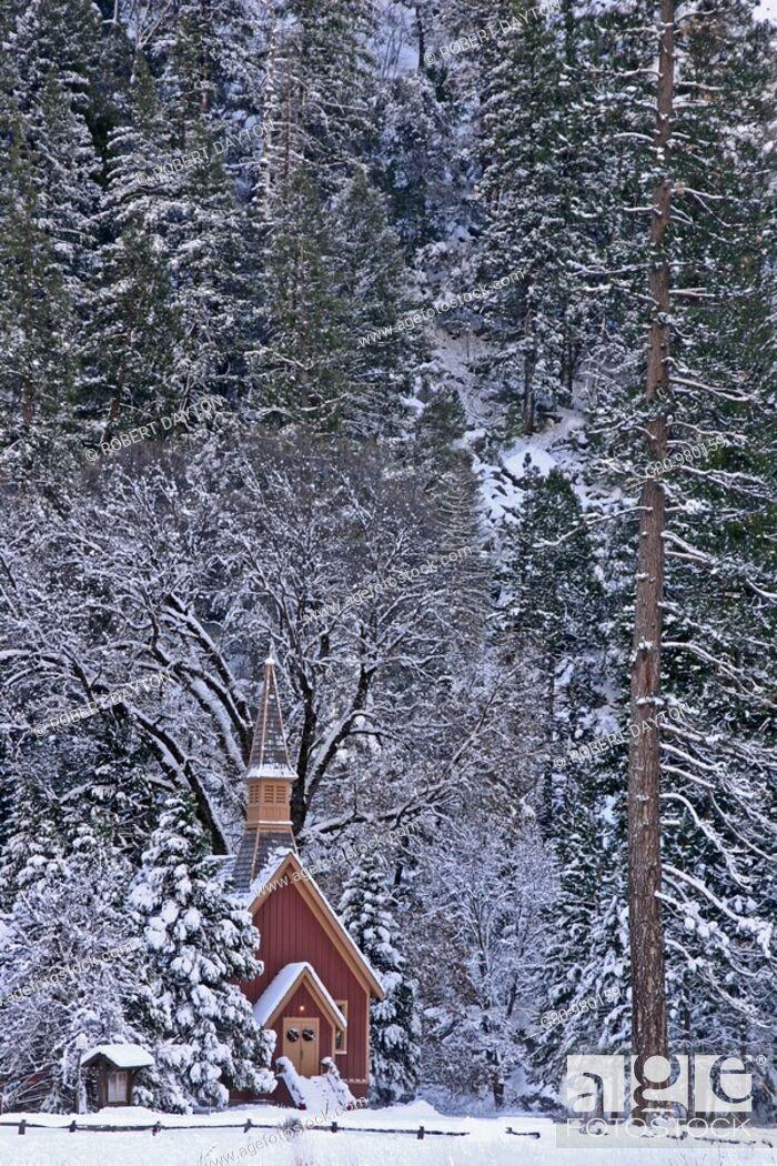 Stock Photo: A church in Yosemite NP.