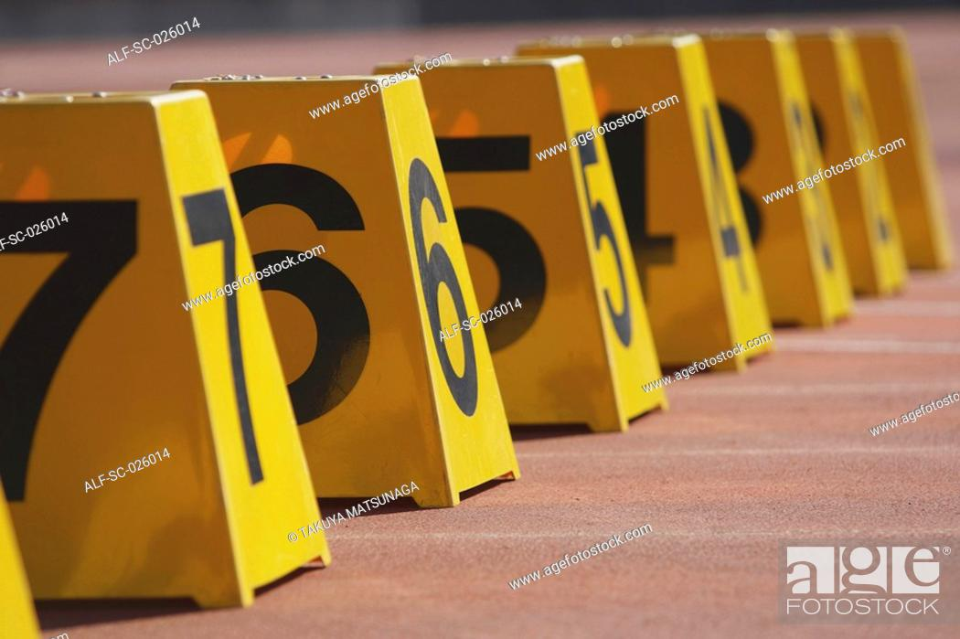 Stock Photo: Number Markers.