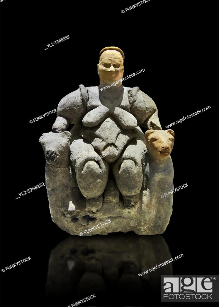 Stock Photo: Terracotta Goddess figure which has been associated with agriculture & human fertility because of her big breasts and wide hips.