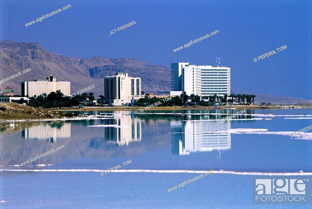 Stock Photo: Israel, hotels along the Red Sea.