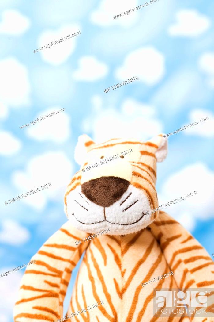 Stock Photo: wallpaper and animal shape, tiger.