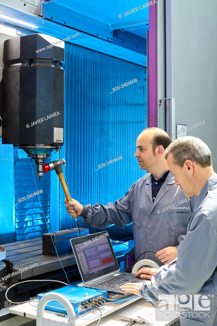 Stock Photo: Sensorized and monitored machine for Modal analysis, Vibrational analysis, Advanced Manufacturing Industry, Technology Centre, Tecnalia Research & Innovation.