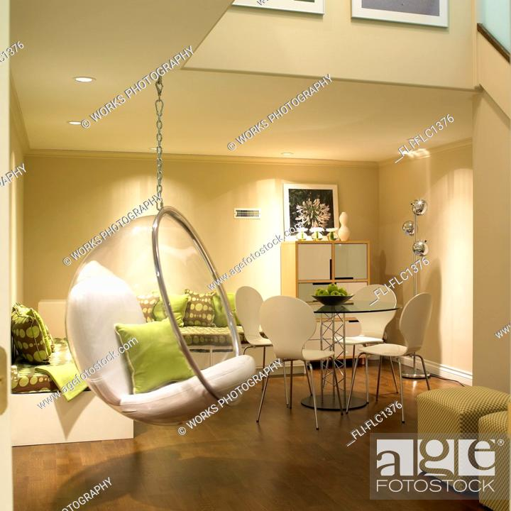 Stock Photo Finished Bat With Bubble Hanging Chair And Contemporary Furniture Victoria Vancouver