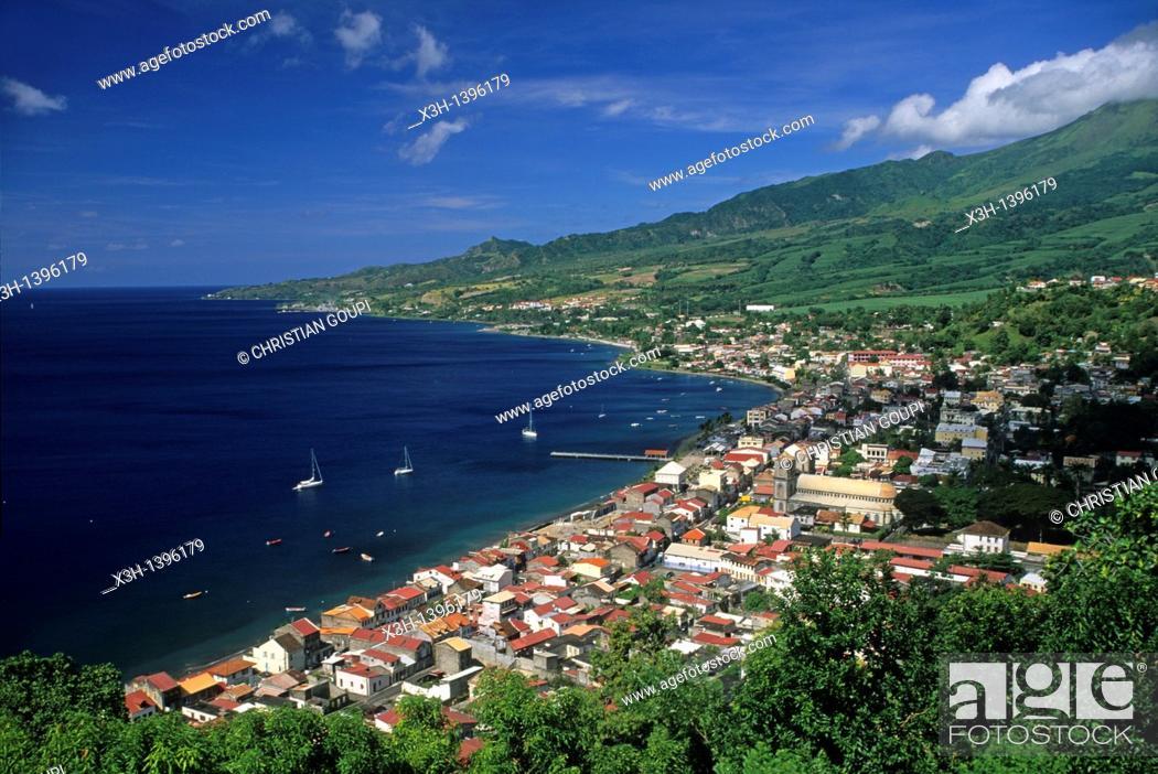 Stock Photo: baie de Saint-Pierre,cote ouest Ile de la Martinique Departement et Region d'Outremer francais Archipel des Antilles Caraibes//bay of Saint-Pierre.