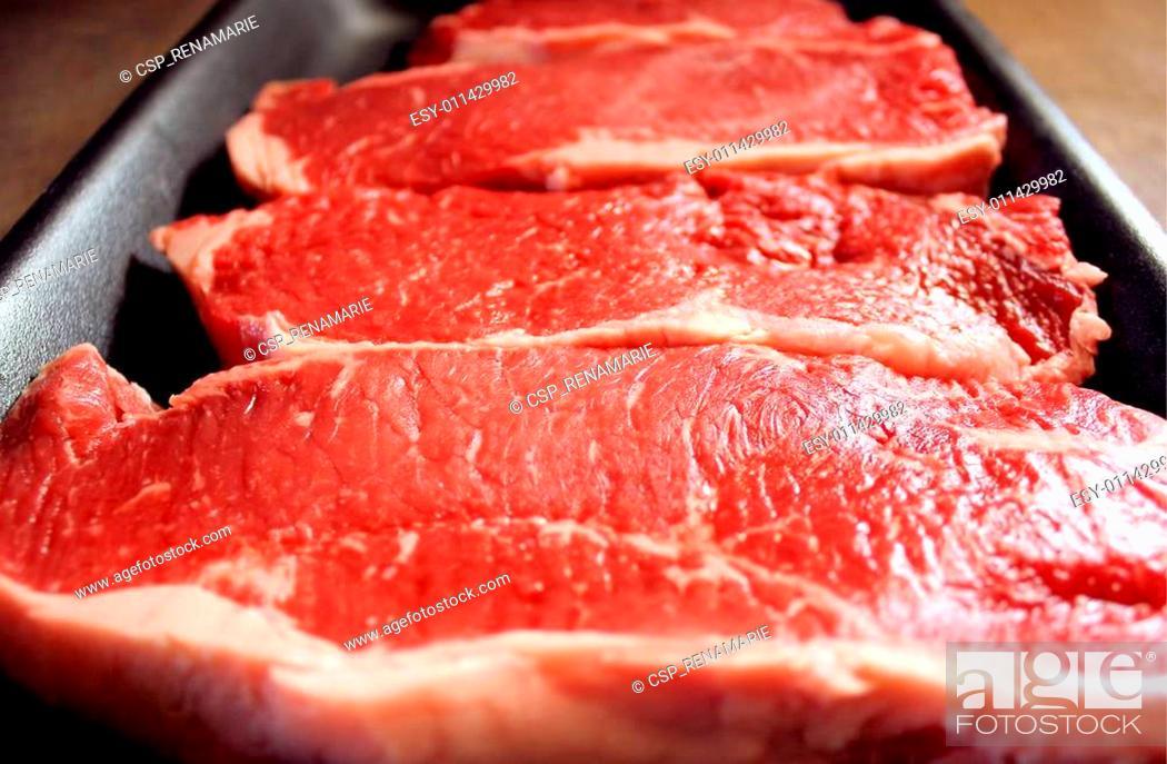 Stock Photo: Sirloin Steaks.