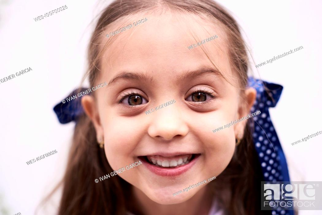 Stock Photo: Portrait of happy little girl.
