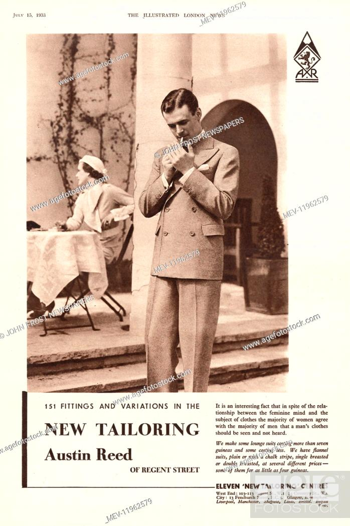 1937 Uk Magazine Austin Reed Advert Stock Photo Picture And Rights Managed Image Pic Mev 11962579 Agefotostock