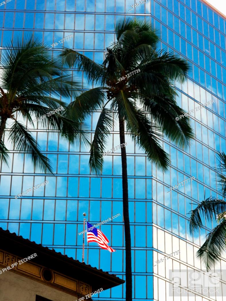Stock Photo: Honolulu, financial centre.