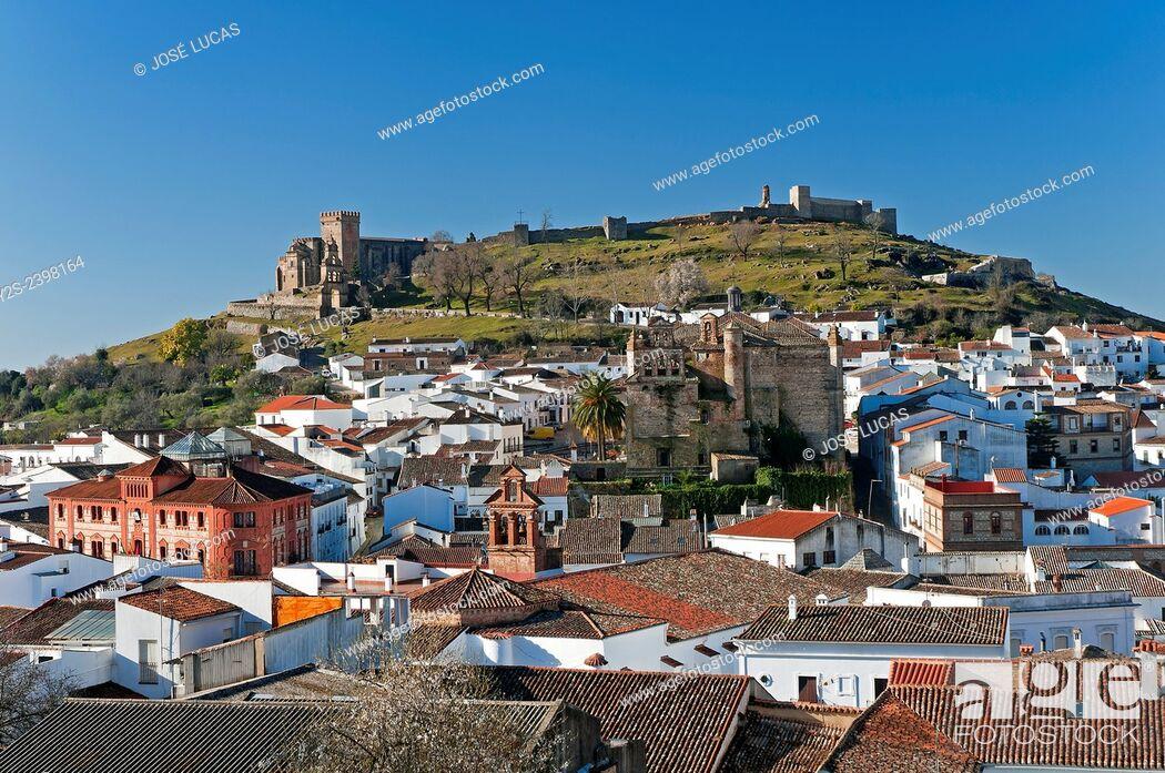 Stock Photo: Panoramic view, Aracena, Huelva province, Region of Andalusia, Spain, Europe.