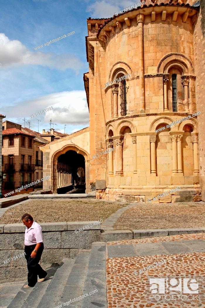 Stock Photo: Church of Saint Martin, Romanesque, Segovia, Spain.