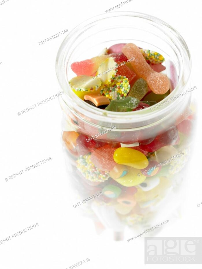 Stock Photo: Food - Assorted Sweets in Jar.
