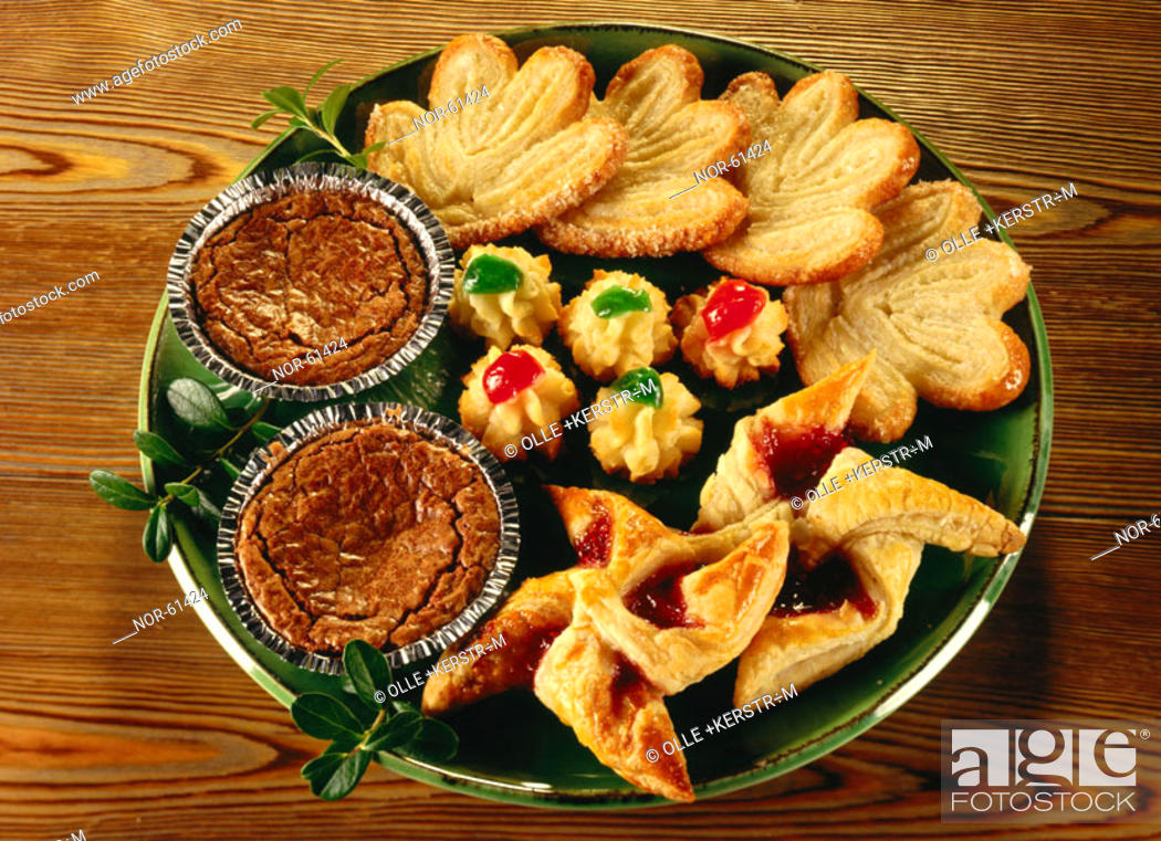 Stock Photo: Different kinds of pastries.