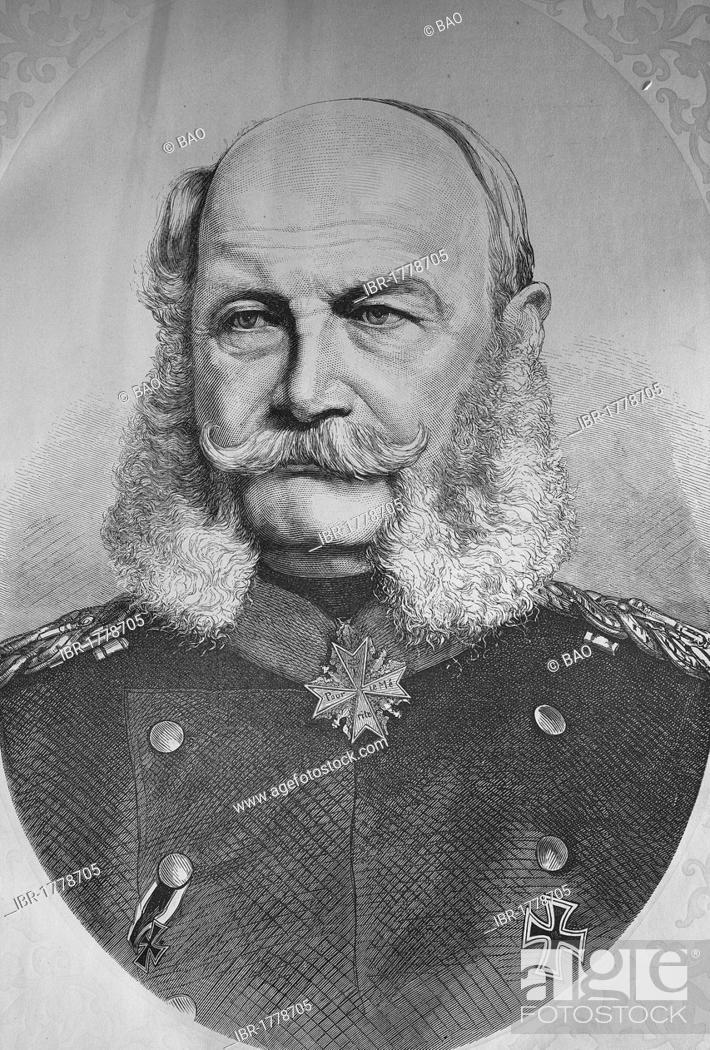 Stock Photo: Emperor William I, Illustrierte Kriegschronik 1870-1871 illustrated war history, German-French campaign, Weber.