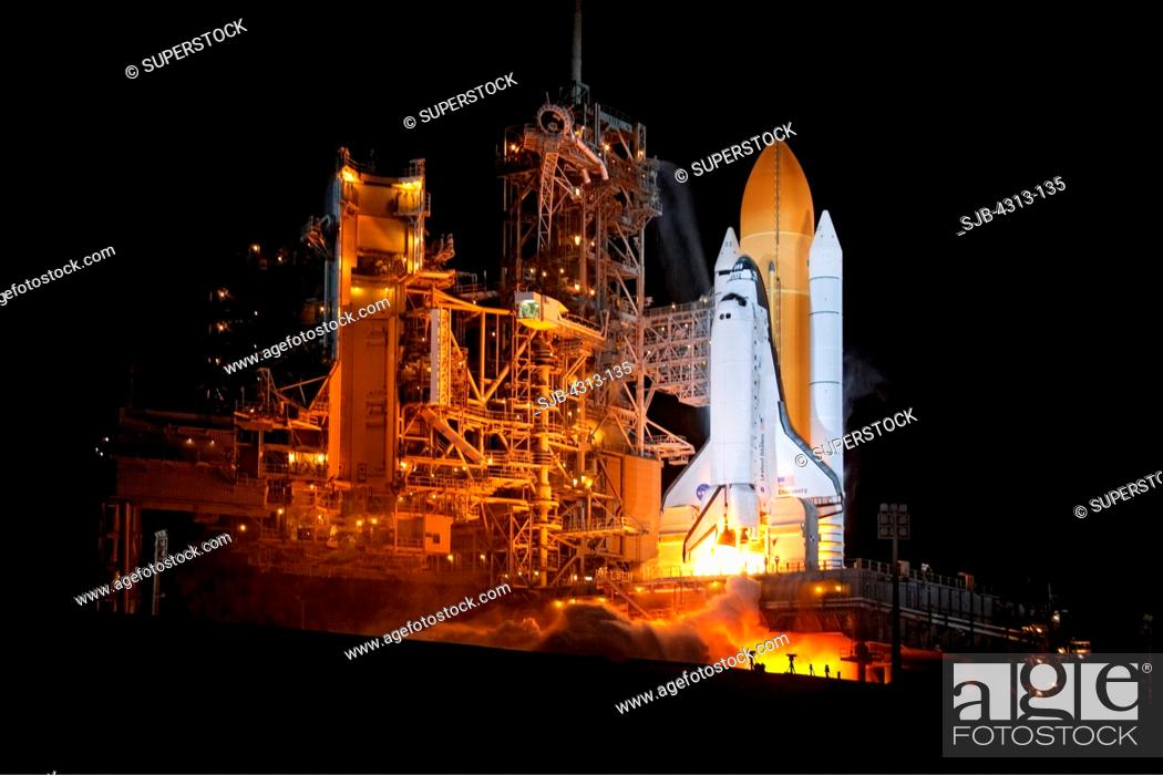 Stock Photo: Discovery Launches on STS-131.