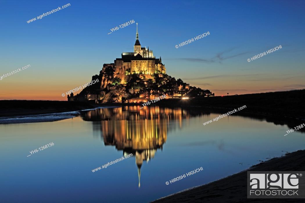Stock Photo: France, Normandie, Manche, Mont-St-Michel.
