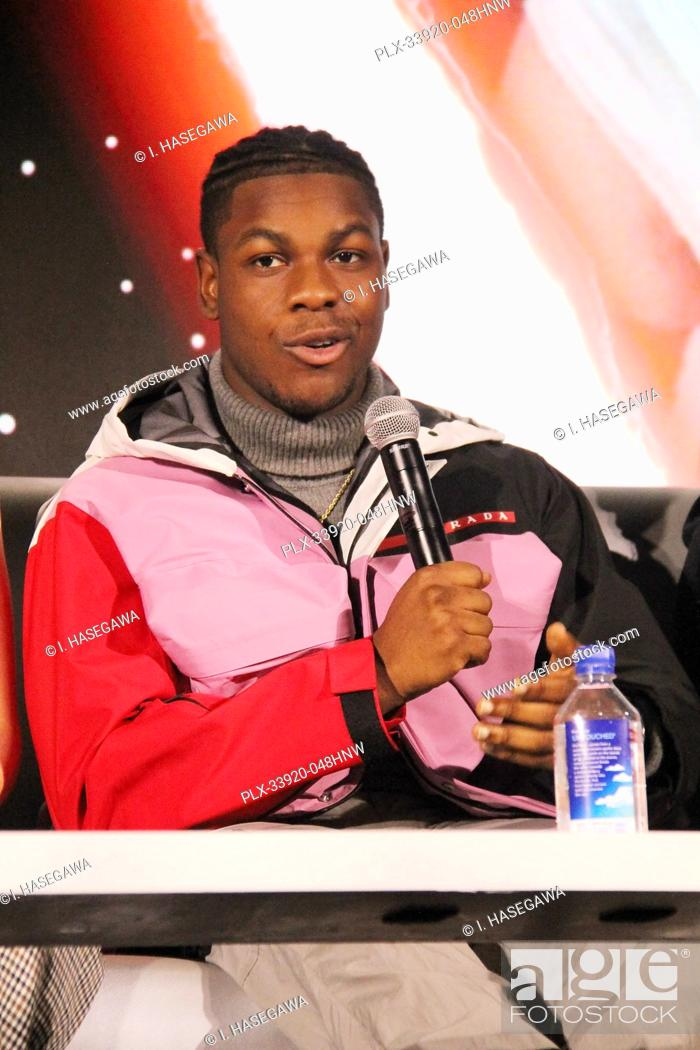 """Stock Photo: John Boyega 12/04/2019 """"""""Star Wars: The Rise of the Skywalker"""""""" Press Conference held in Pasadena, CA. Photo by I. Hasegawa / HNW / PictureLux."""