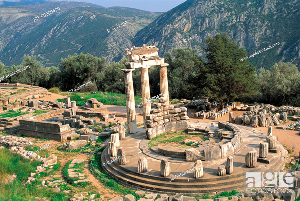 Stock Photo: Delphi, Tholos.