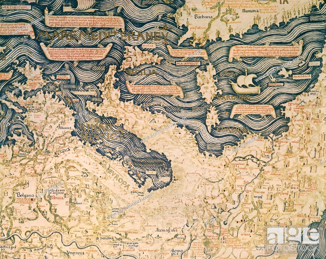 Cartography 15th Century World Map By Camaldolese Monk Fra Mauro