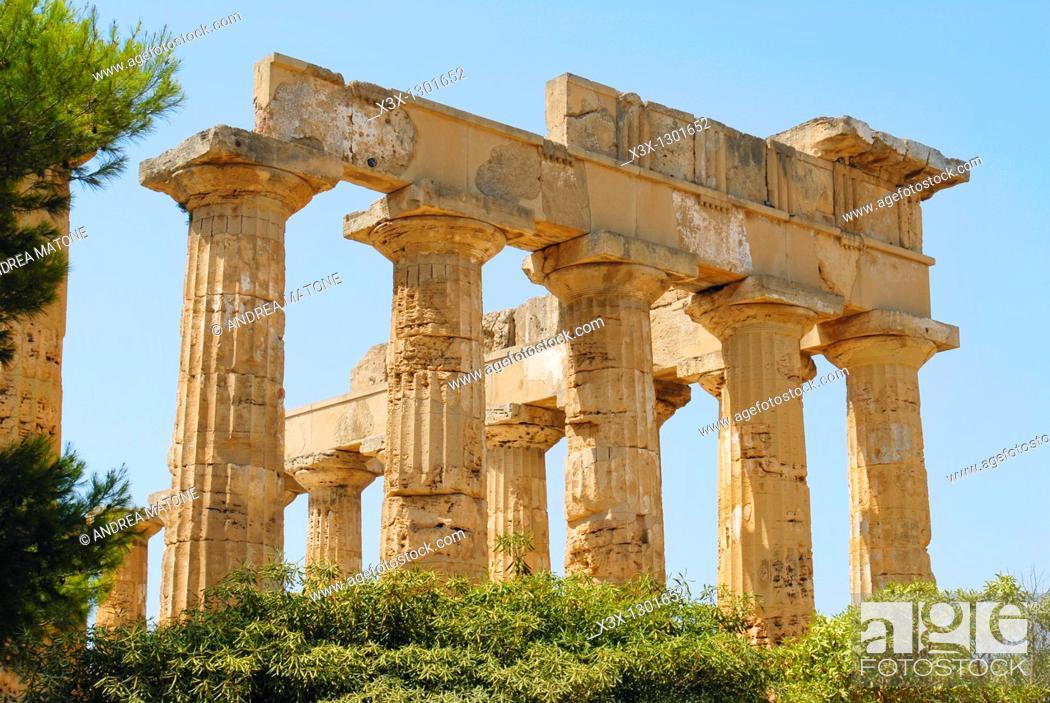 Stock Photo: The Greek Temple Selinunte Sicily Italy.