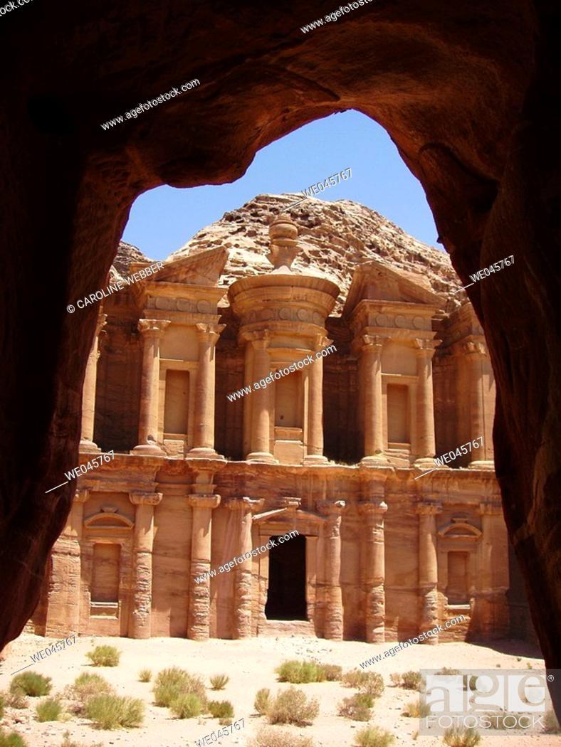 Stock Photo: The Monastery, Petra, Jordan.
