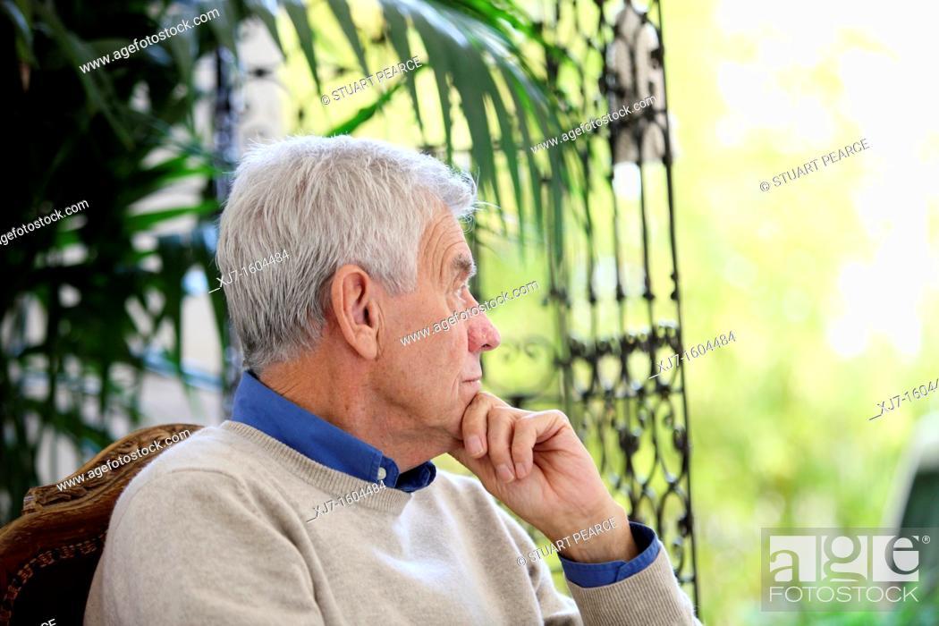 Stock Photo: Senior man.
