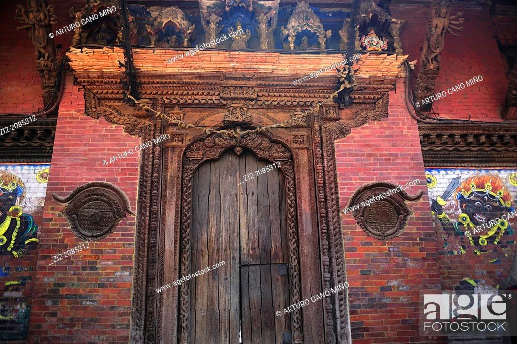 Stock Photo: Royal Palace, Durbar Square, Patan, Nepal.