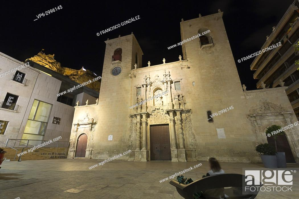 Stock Photo: Basilica of Santa Maria in the city of Alicante, Spain.
