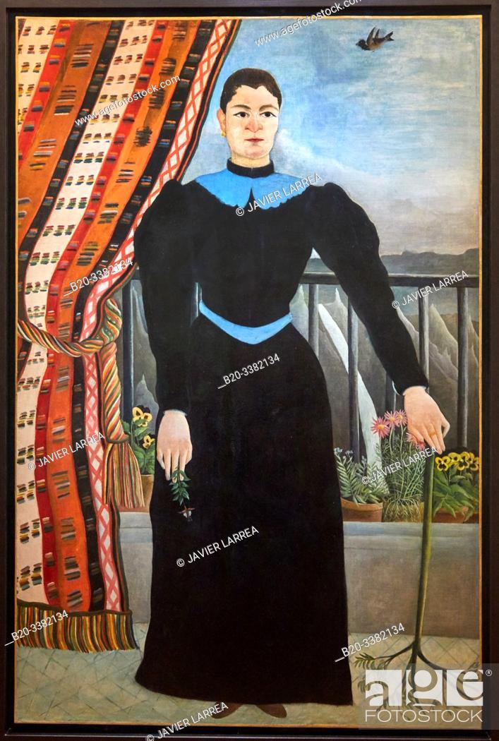 """Stock Photo: """"Portrait de femme"""", 1895, Le Douanier Rousseau (Henri Rousseau, dit), Picasso Museum, Paris, France, Europe."""