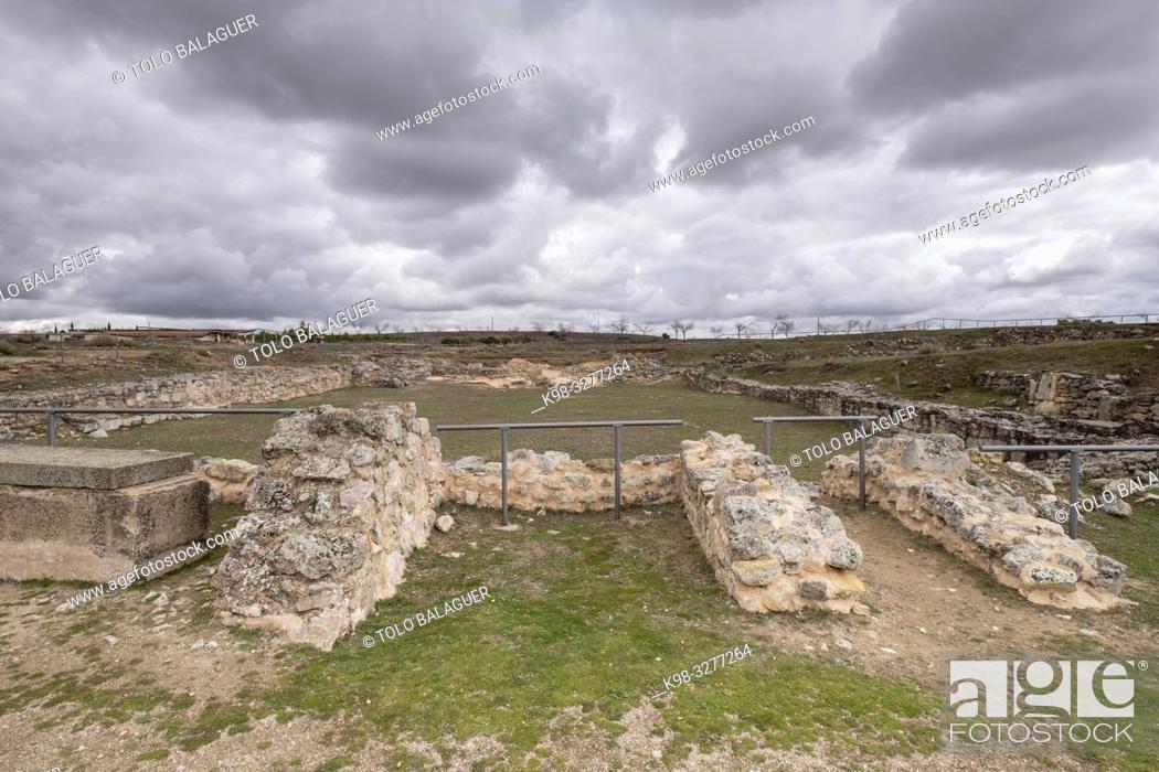 Stock Photo: basilica visigoda, parque arqueológico de Segóbriga, Saelices, Cuenca, Castilla-La Mancha, Spain.