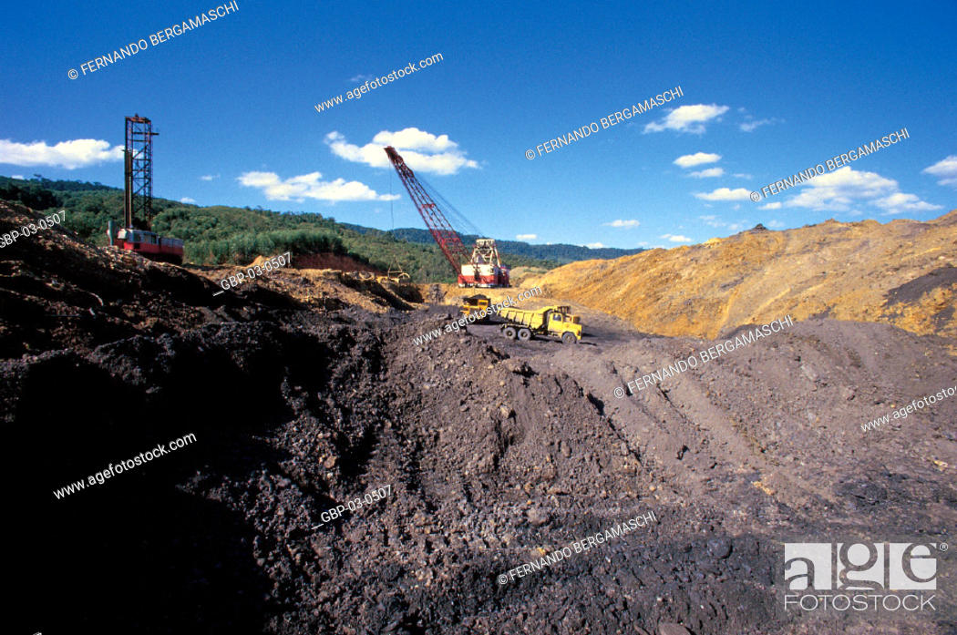 Photo Illustrated An Excavation In A Mine Trucks Cranes