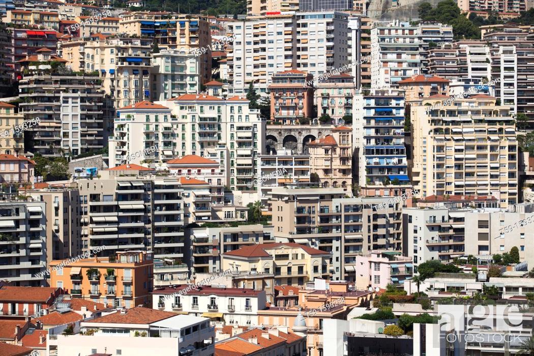 Stock Photo: Overview Monte Carlo, Cote d Azur.