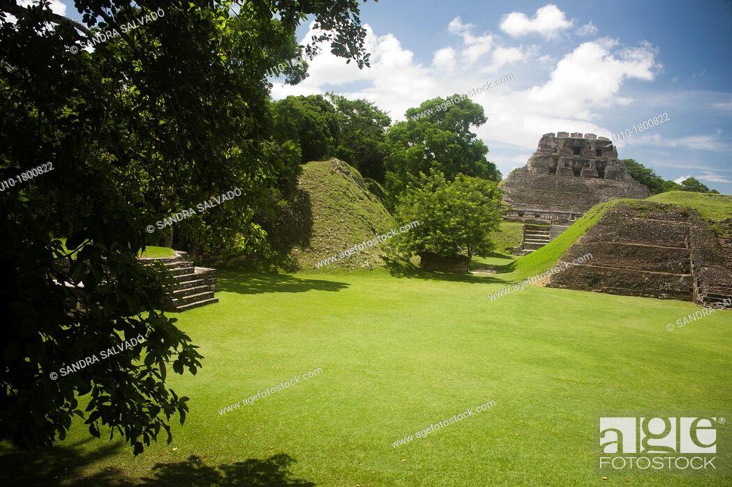 Stock Photo: Archeological site Xunantunich, Belize.