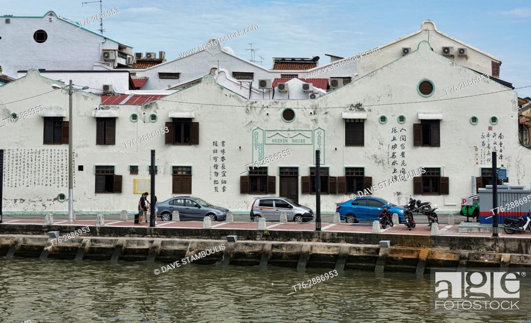 Stock Photo: The historic Heeren House off of Jonker Street, Malacca, Malaysia.
