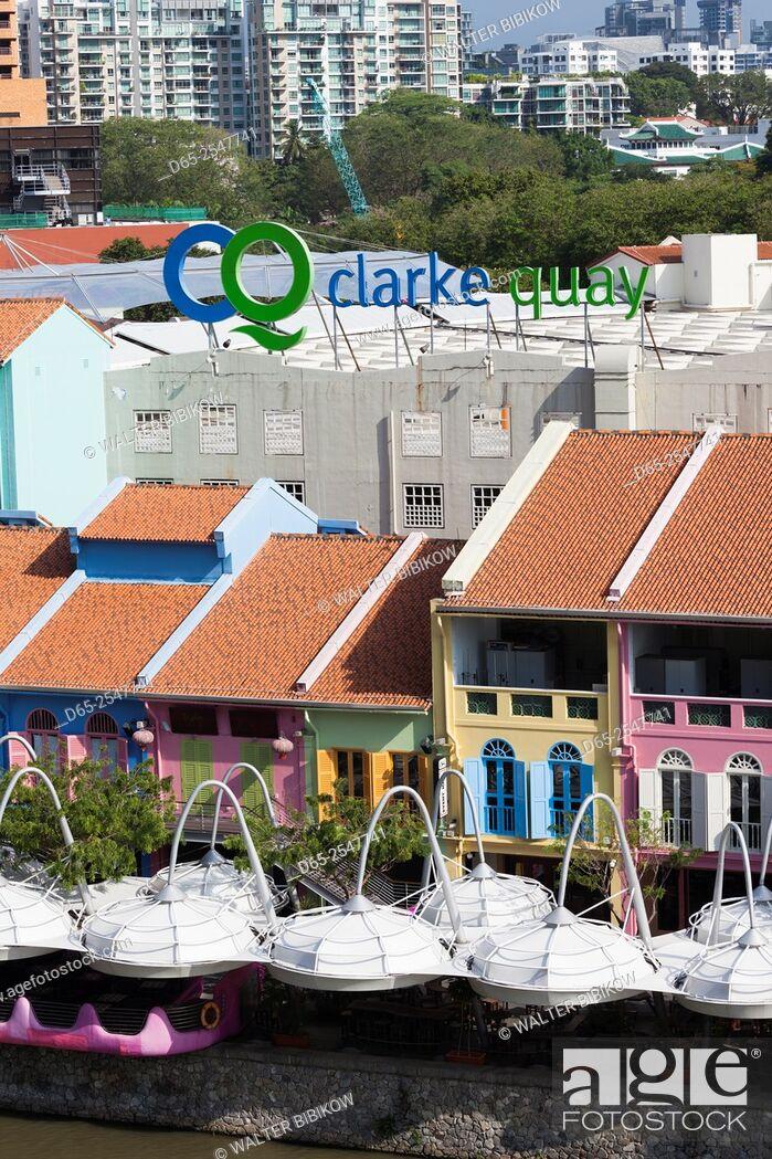 Stock Photo: Singapore, Clarke Quay, entertainment district, exterior.