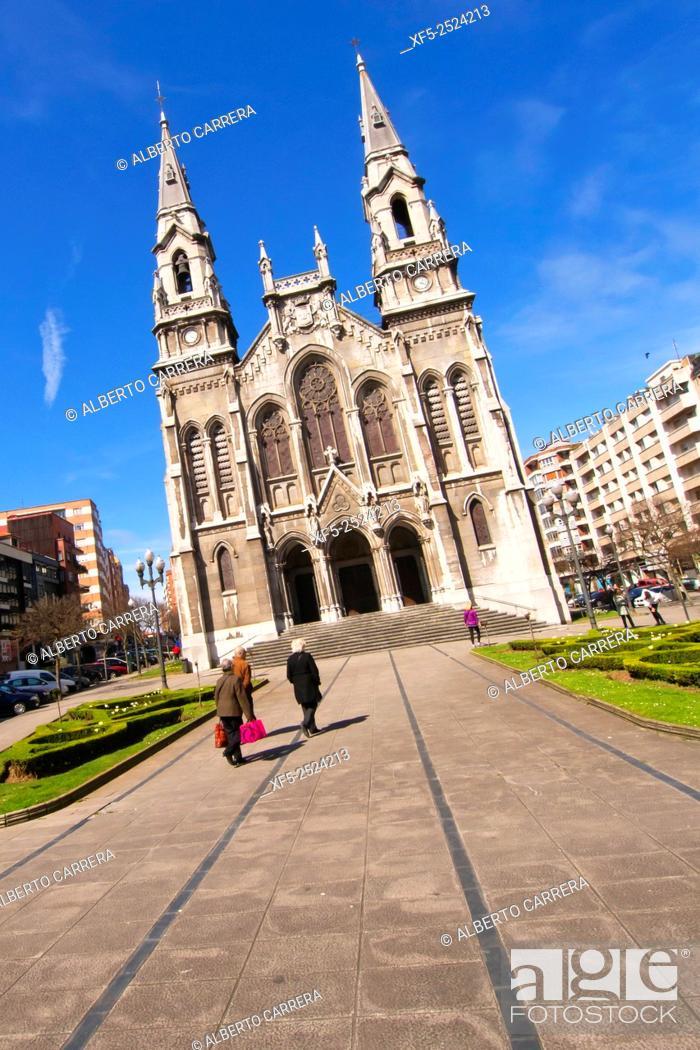 Stock Photo: St. Thomas of Canterbury's Parish, Sabugo's New Church, Parroquia Santo Tomás de Cantorbery, Avilés, Asturias, Spain, Europe.