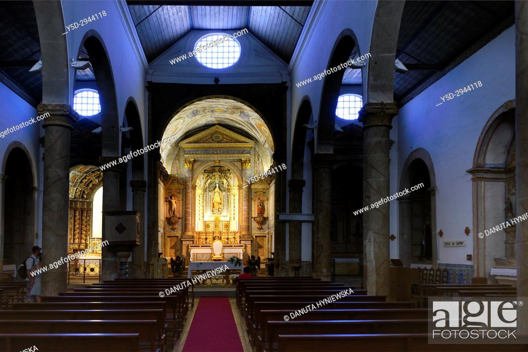 Stock Photo: interior of Igreja de São Sebastião - Church of St. Sebastian, classified as a National Monument, Old town of Lagos, Algarve, Portugal, Europe.