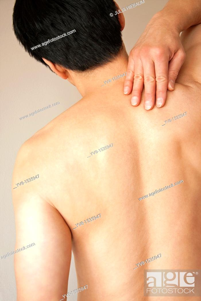 Stock Photo: Feeling Back Pain.