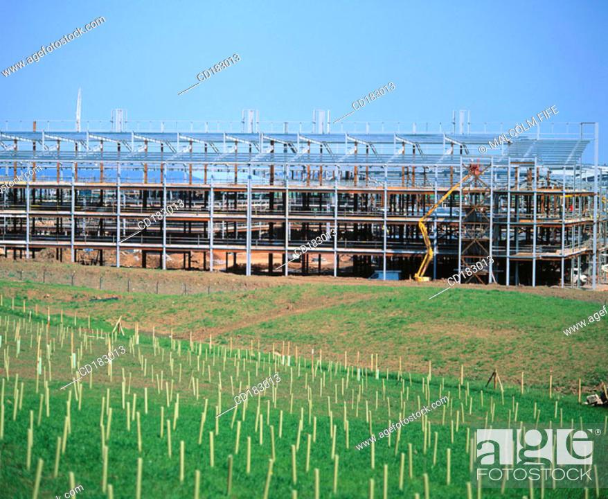 Stock Photo: Hospital under construction.