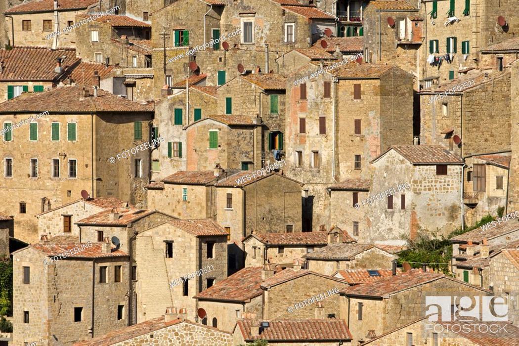 Stock Photo: Italy, Tuscany, Sorano.