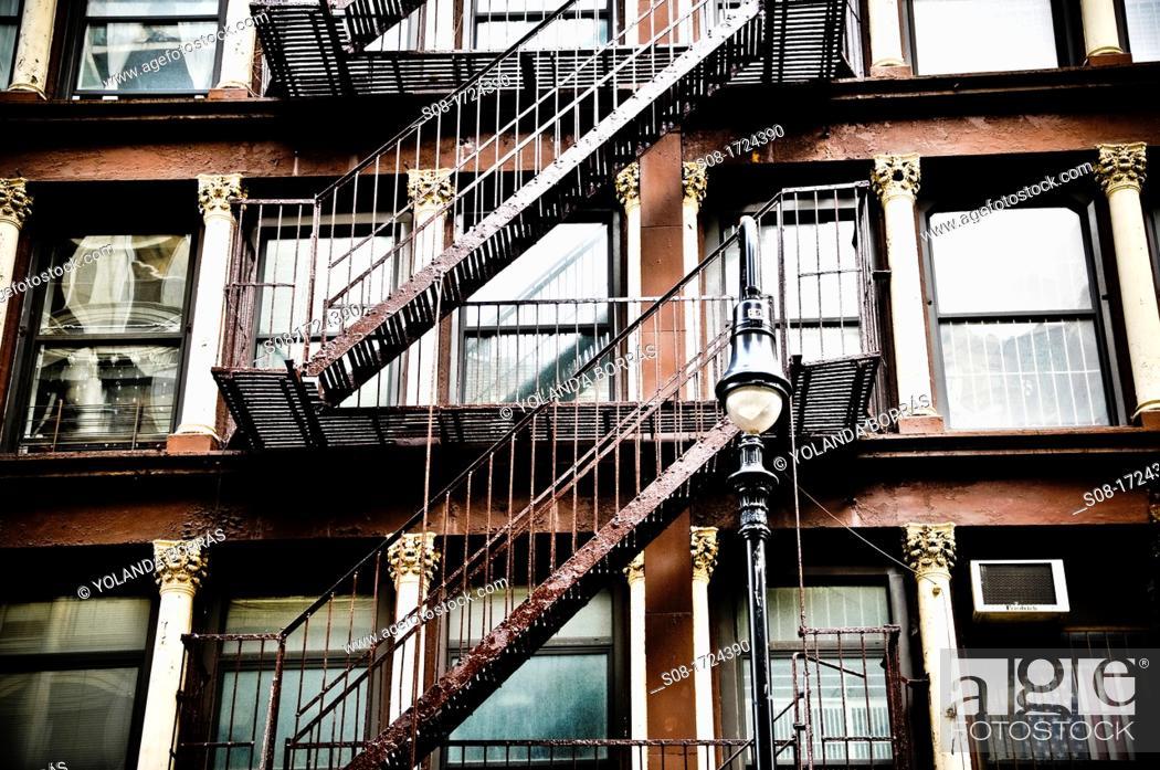 Stock Photo: emergency stairs.