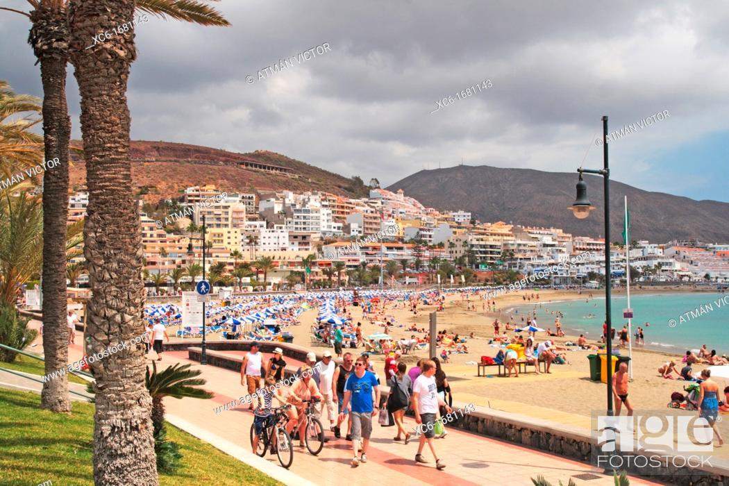 Stock Photo: Los Cristianos beach Tenerife.