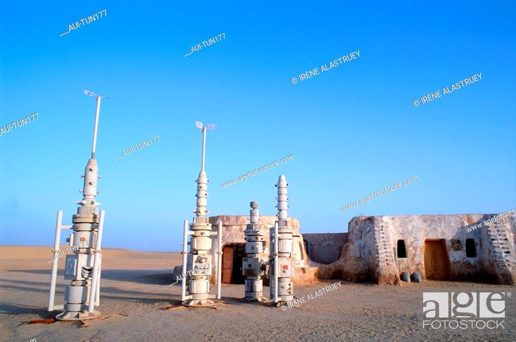Stock Photo: Tunisia - The South - Chott el Jerid Region - Nefta surroundings - Onk Jemel site - film scenery - Starwars.